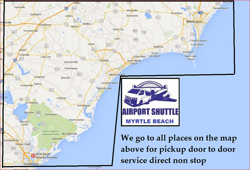Transportation From Myrtle Beach Airport To Wilmington Nc