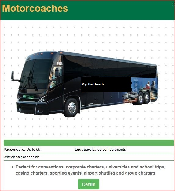 Large Group Coaches Official Site Myrtle Beach Int L
