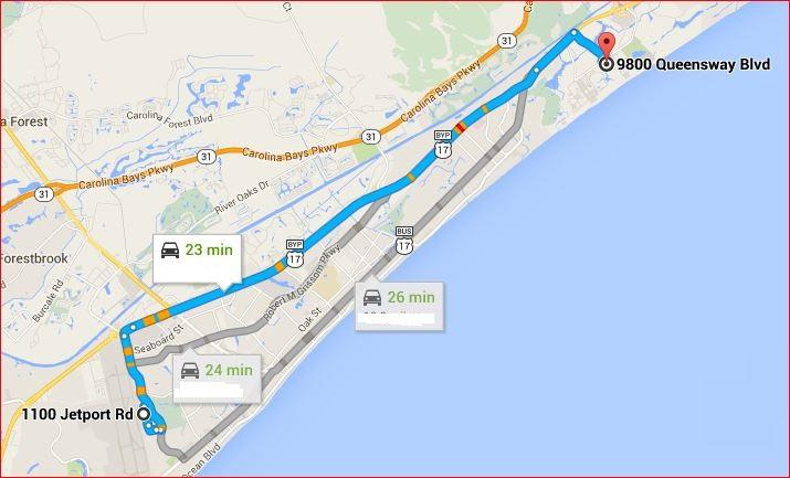 Embassy Suites Myrtle Beach Map