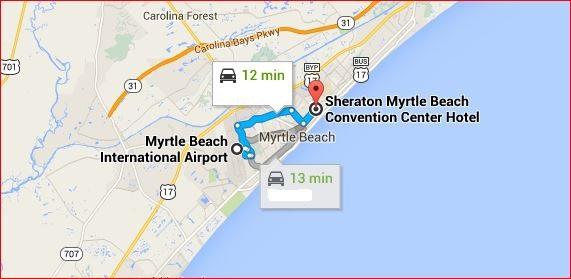 Sheraton Myrtle Beach Convention Center 2101 Oak St, Myrtle Beach, SC 29577